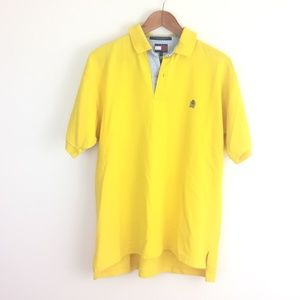 Tommy hilfiger vintage 90s  yellow polo shirt